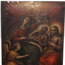 Arte: IMPORTANTE RETABLO PINTADO DE TEMA RELIGIOSO. FINALES DEL SIGLO XVII. Lote 102792747