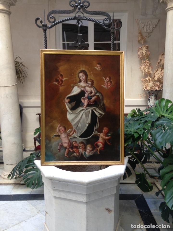 Arte: Virgen del Carmen Siglo XIX, óleo - Foto 2 - 102864040