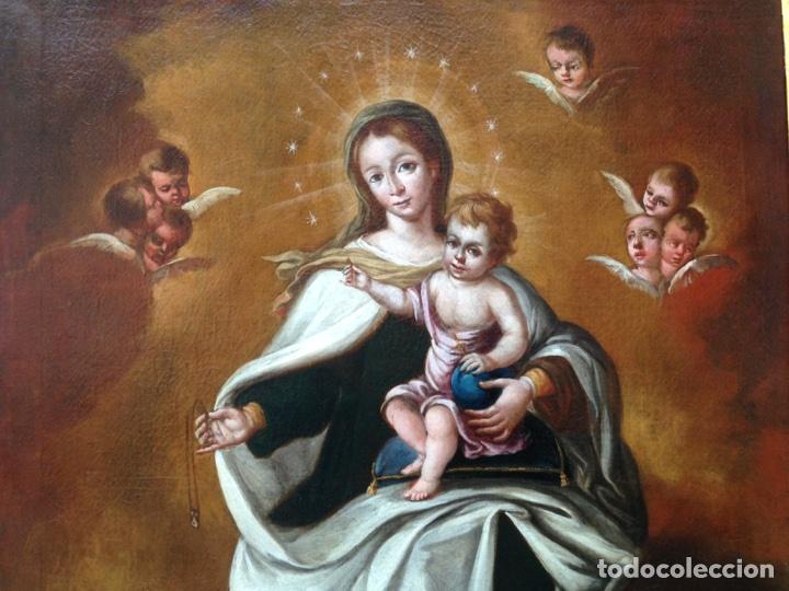Arte: Virgen del Carmen Siglo XIX, óleo - Foto 4 - 102864040
