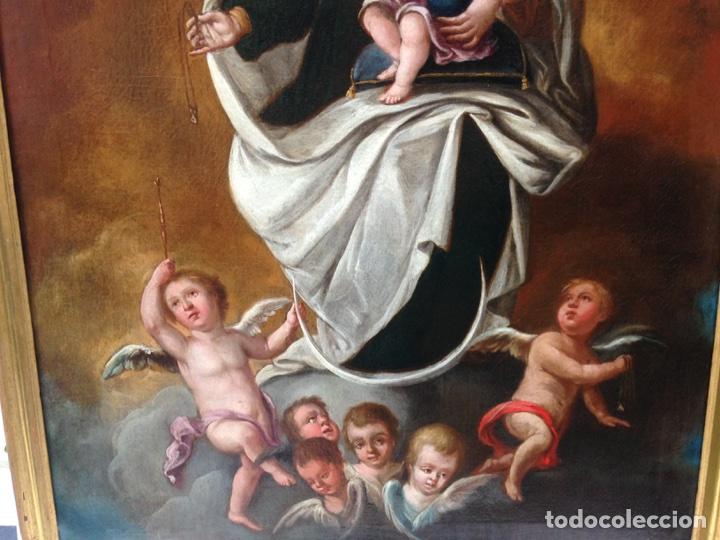 Arte: Virgen del Carmen Siglo XIX, óleo - Foto 5 - 102864040