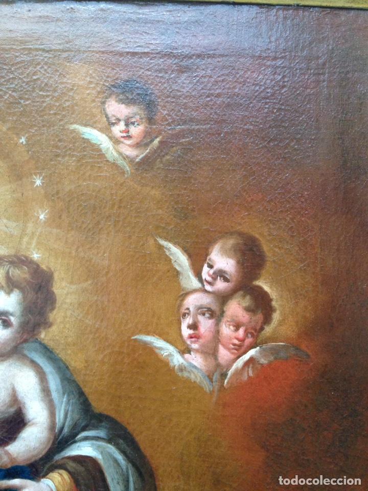 Arte: Virgen del Carmen Siglo XIX, óleo - Foto 9 - 102864040