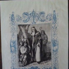 Arte: GRABADO SIGLO XIX. SAN FÉLIX.. Lote 102987159