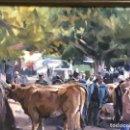 Arte: ARMANDO GONZÁLEZ FAVILA, FAMOSO PINTOR DE ÁVILES. ASTURIAS GANADOS EN LA FERIA CANGAS DE ONIS. Lote 103070403