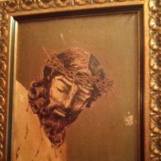 Arte: PRECIOSO OLEO NAZARENO PINTADO POR ANTONIO PEDRERO YEBOLES, ARTISTA ZAMORANO MUY COTIZADO.. Lote 103167123