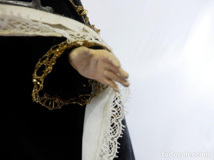 Arte: Excelente cap i pota, talla Virgen de los Dolores, Dolorosa, con fanal s XIX - Foto 11 - 103267343