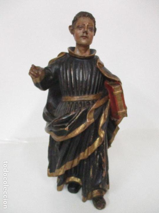 Arte: Curiosa Imagen Barroca - Apóstol San Pablo - Talla de Madera, Policromada - S. XVIII - Foto 2 - 103316375