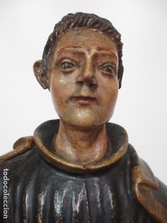Arte: Curiosa Imagen Barroca - Apóstol San Pablo - Talla de Madera, Policromada - S. XVIII - Foto 5 - 103316375