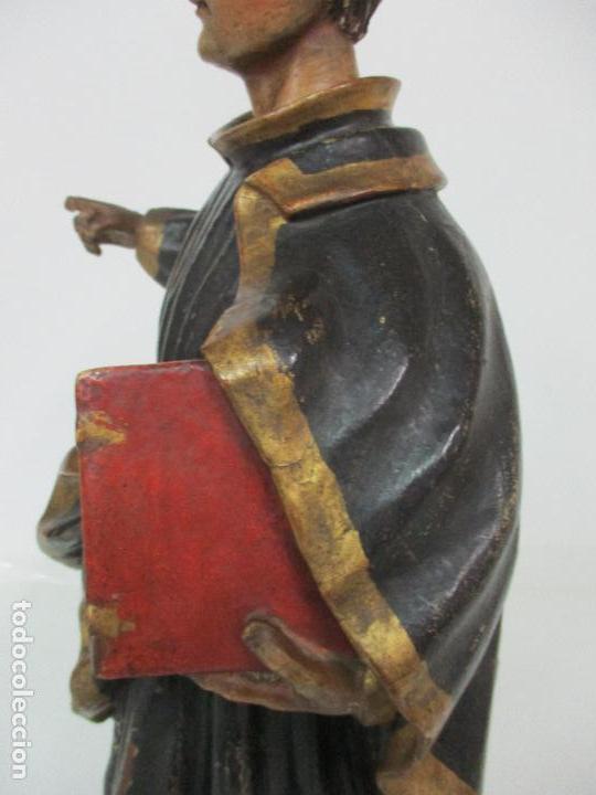 Arte: Curiosa Imagen Barroca - Apóstol San Pablo - Talla de Madera, Policromada - S. XVIII - Foto 9 - 103316375