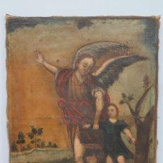 Arte: BONITO ANGEL DE LA GUARDA. OLEO S/ LIENZO. SIGLO XVII. Lote 103333487