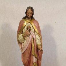 Arte: SAGRADO CORAZON DE JESUS TALLA DE MADERA . Lote 106112259