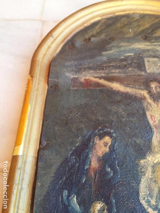 Arte: Antigua puerta de Sagrario con óleo lienzo - Foto 3 - 103376407