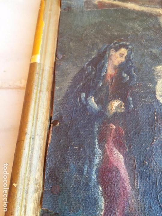 Arte: Antigua puerta de Sagrario con óleo lienzo - Foto 4 - 103376407