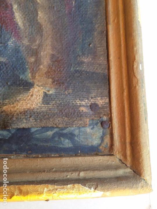 Arte: Antigua puerta de Sagrario con óleo lienzo - Foto 7 - 103376407
