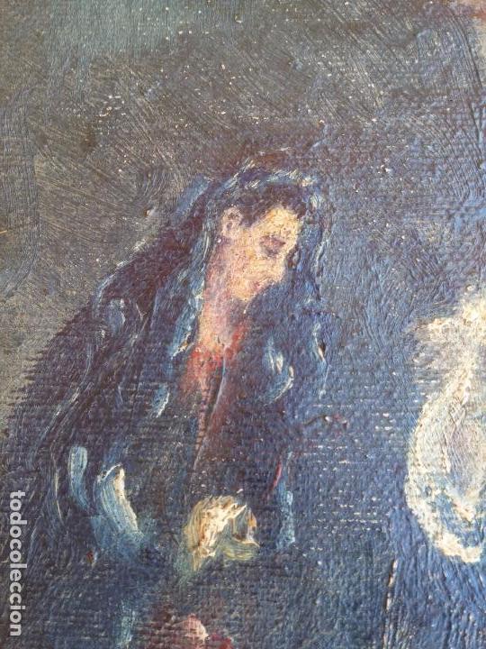 Arte: Antigua puerta de Sagrario con óleo lienzo - Foto 8 - 103376407
