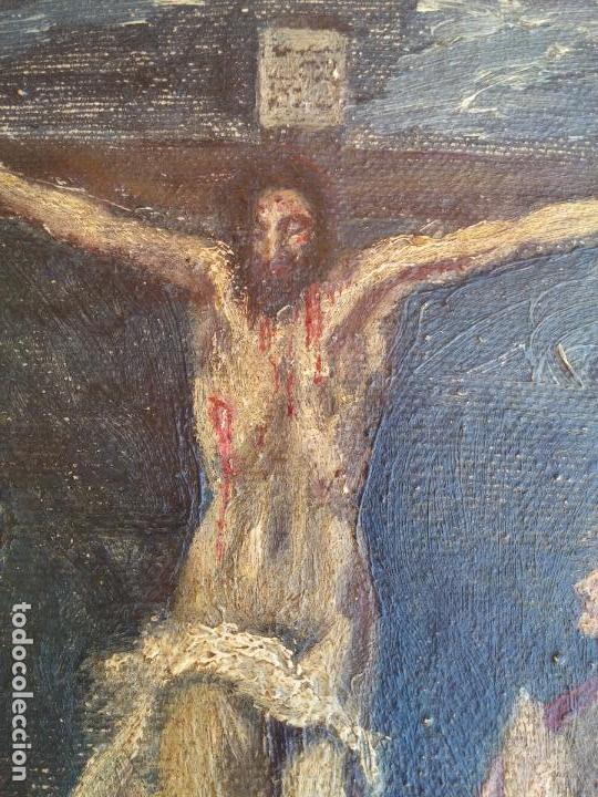 Arte: Antigua puerta de Sagrario con óleo lienzo - Foto 9 - 103376407
