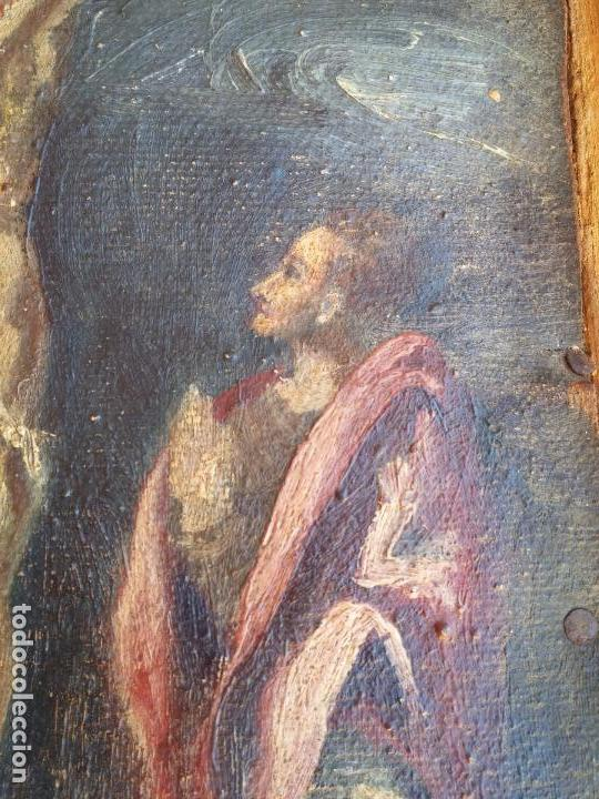 Arte: Antigua puerta de Sagrario con óleo lienzo - Foto 10 - 103376407