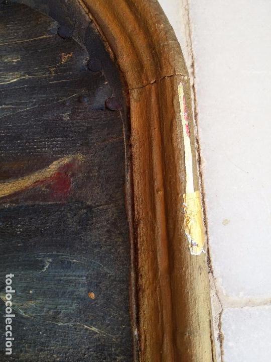 Arte: Antigua puerta de Sagrario con óleo lienzo - Foto 11 - 103376407
