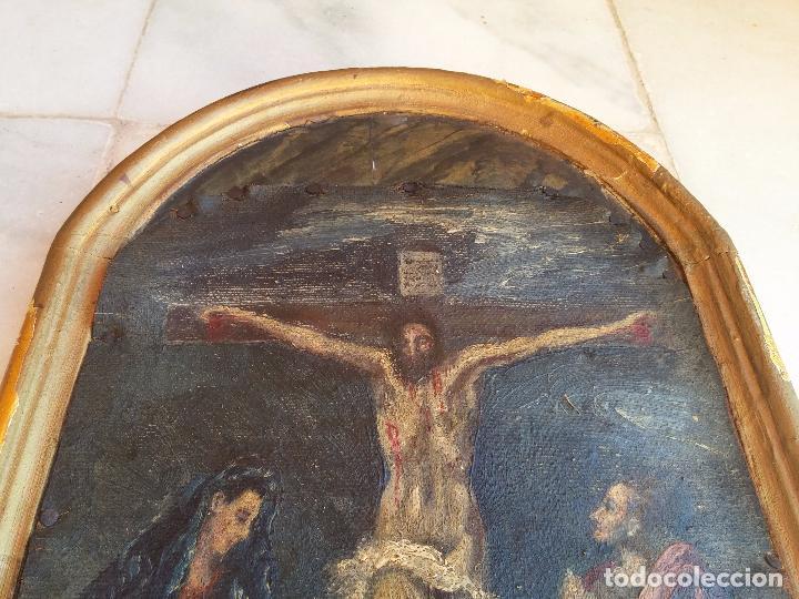 Arte: Antigua puerta de Sagrario con óleo lienzo - Foto 13 - 103376407