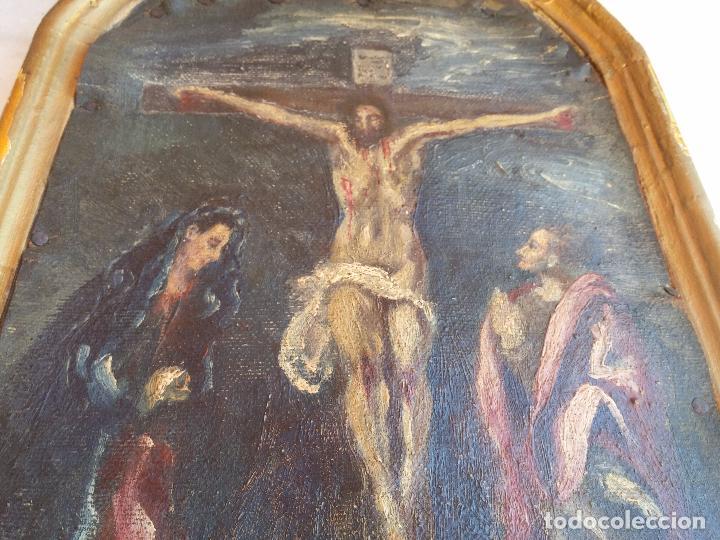 Arte: Antigua puerta de Sagrario con óleo lienzo - Foto 14 - 103376407
