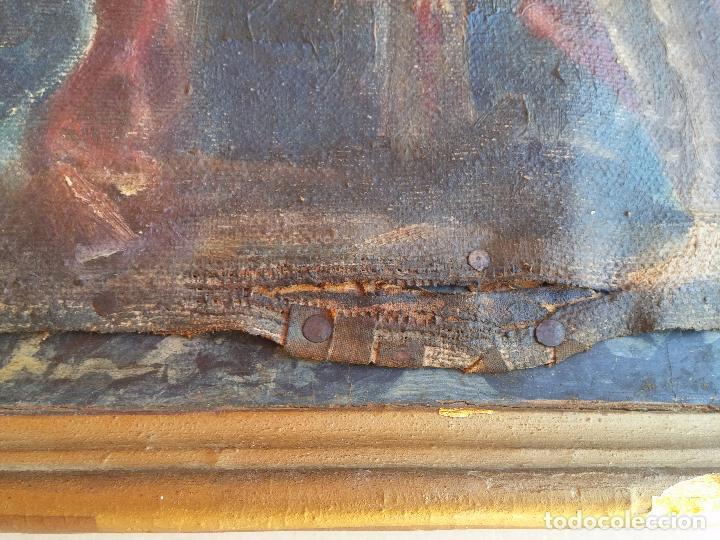 Arte: Antigua puerta de Sagrario con óleo lienzo - Foto 15 - 103376407