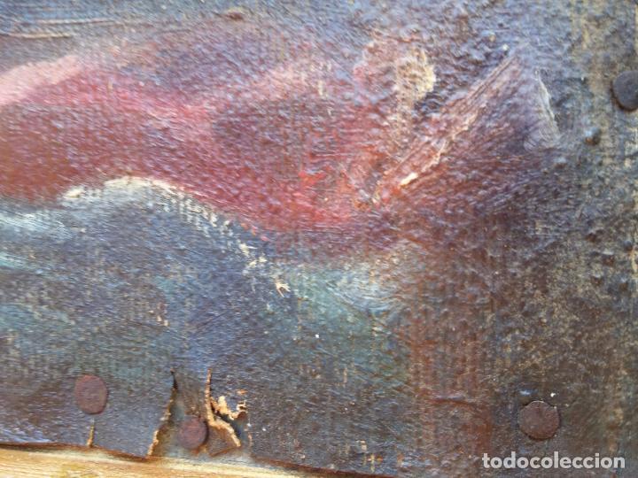 Arte: Antigua puerta de Sagrario con óleo lienzo - Foto 16 - 103376407