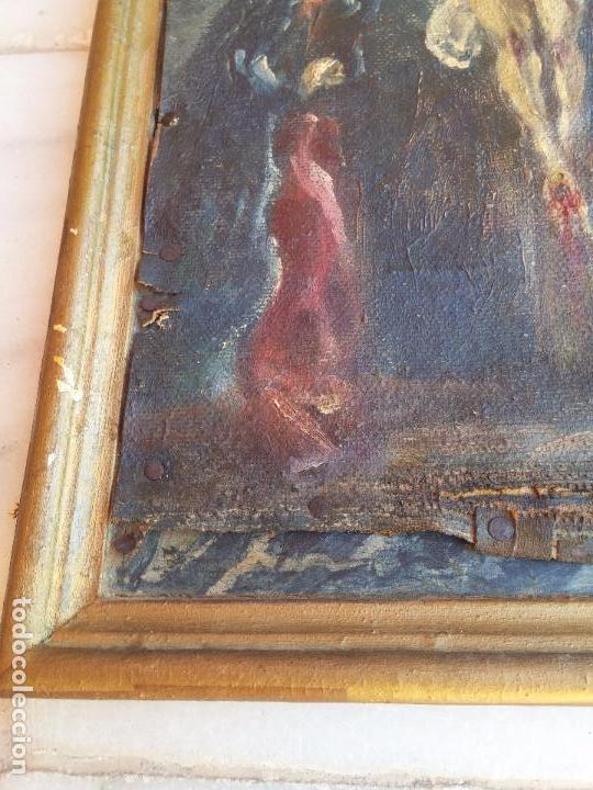 Arte: Antigua puerta de Sagrario con óleo lienzo - Foto 20 - 103376407