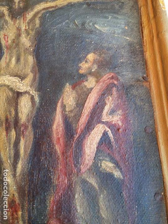Arte: Antigua puerta de Sagrario con óleo lienzo - Foto 22 - 103376407