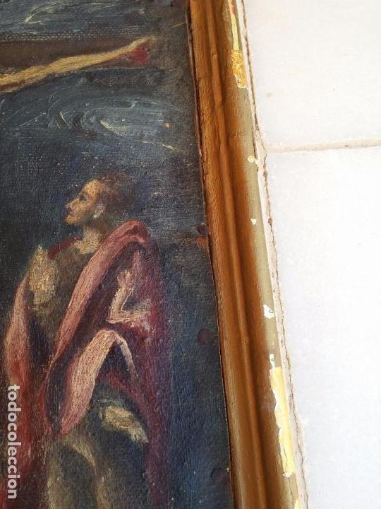 Arte: Antigua puerta de Sagrario con óleo lienzo - Foto 23 - 103376407