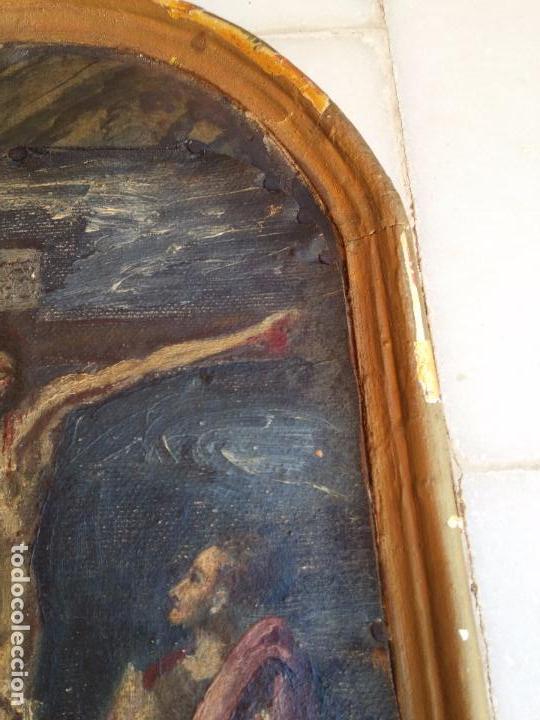Arte: Antigua puerta de Sagrario con óleo lienzo - Foto 24 - 103376407