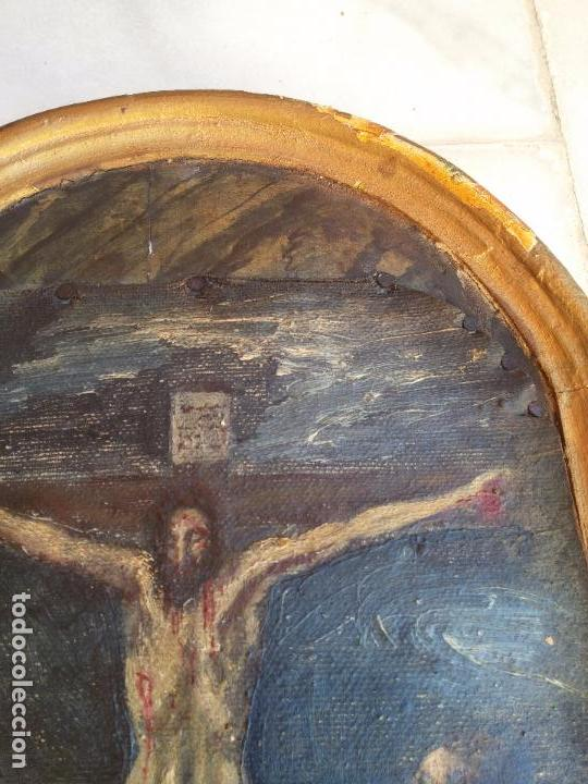 Arte: Antigua puerta de Sagrario con óleo lienzo - Foto 25 - 103376407