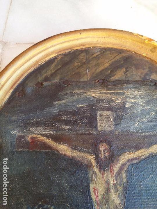 Arte: Antigua puerta de Sagrario con óleo lienzo - Foto 26 - 103376407