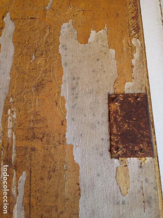 Arte: Antigua puerta de Sagrario con óleo lienzo - Foto 29 - 103376407