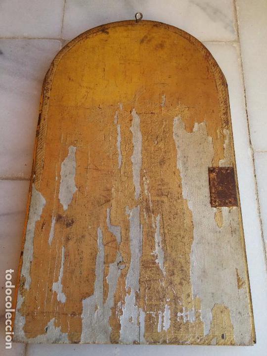 Arte: Antigua puerta de Sagrario con óleo lienzo - Foto 31 - 103376407