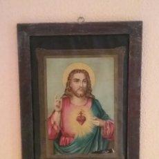 Arte: CUADRO ANTIGUO DEL SAGRADO CORAZON DE JESÚS.. Lote 103444995