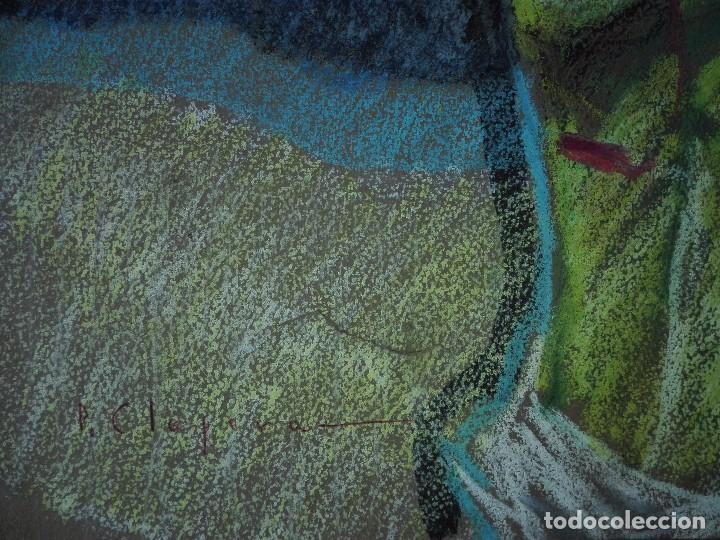 Arte: Dibujo a la cera de Pere Clapera Argelaguer . Torso crucificado. 48x39 cm. - Foto 7 - 103503359