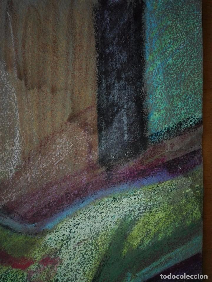 Arte: Dibujo a la cera de Pere Clapera Argelaguer . Torso crucificado. 48x39 cm. - Foto 10 - 103503359