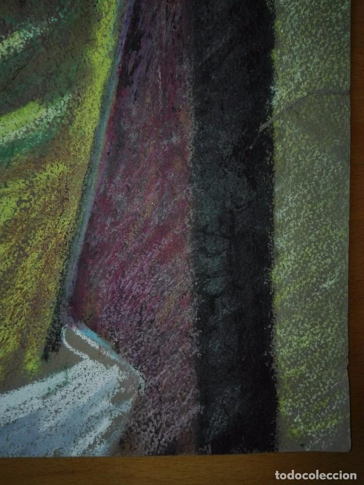 Arte: Dibujo a la cera de Pere Clapera Argelaguer . Torso crucificado. 48x39 cm. - Foto 11 - 103503359