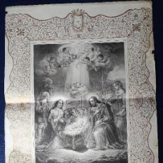 Arte: LAMINA EL NACIMIENTO DEL NIÑO JESUS. Lote 103442335