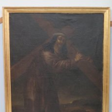Arte: INTERESANTE NAZARENO. CRISTO CON LA CRUZ A CUESTAS. OLEO S/ LIENZO. SIGLO XVII-XVIII. MARCO DE EPOCA. Lote 103623343