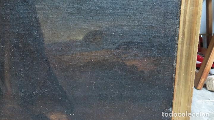 Arte: INTERESANTE NAZARENO. CRISTO CON LA CRUZ A CUESTAS. OLEO S/ LIENZO. SIGLO XVII-XVIII. MARCO DE EPOCA - Foto 8 - 103623343