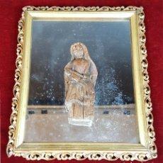 Arte: VIRGEN MARIA CON JESUS. TALLA DE MADERA. ESTILO COLONIAL. SIGLO XVIII-XIX. . Lote 103672647