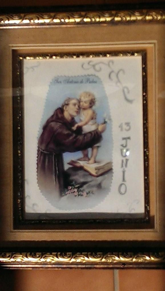ANTIGUO CUADRO EN MADERA SAN ANTONIO (Arte - Arte Religioso - Pintura Religiosa - Otros)