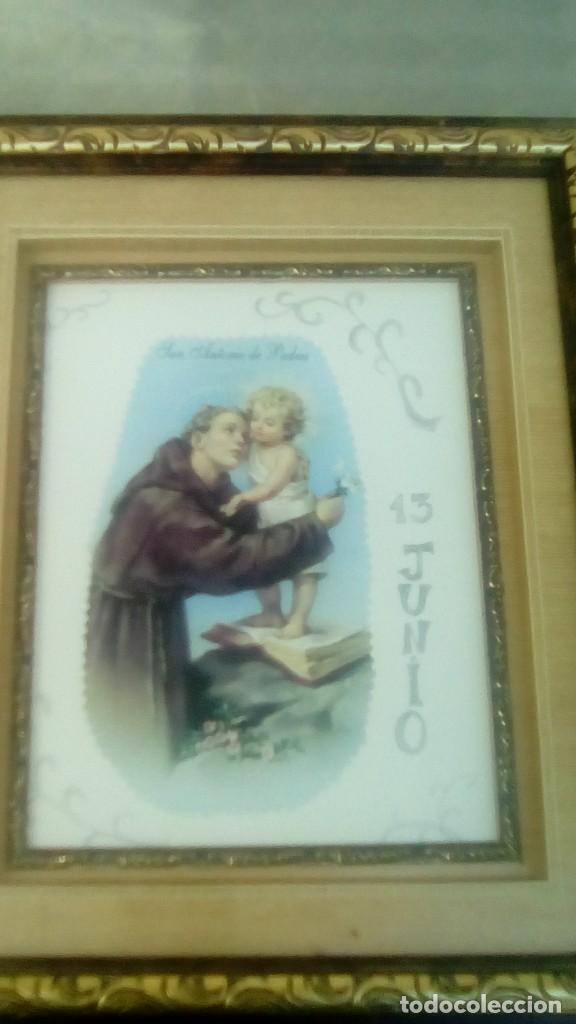 Arte: Antiguo Cuadro en madera San Antonio - Foto 3 - 103824959