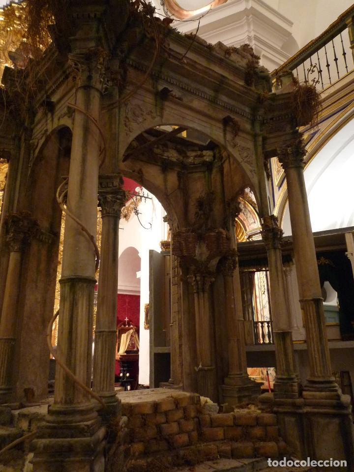NACIMIENTO NAPOLITANO, PRECIOSO TABERNACULO DEL S. XVIII PARA BELEN NAPOLITANO,REBAJADO DE 5000 EUR (Arte - Arte Religioso - Retablos)