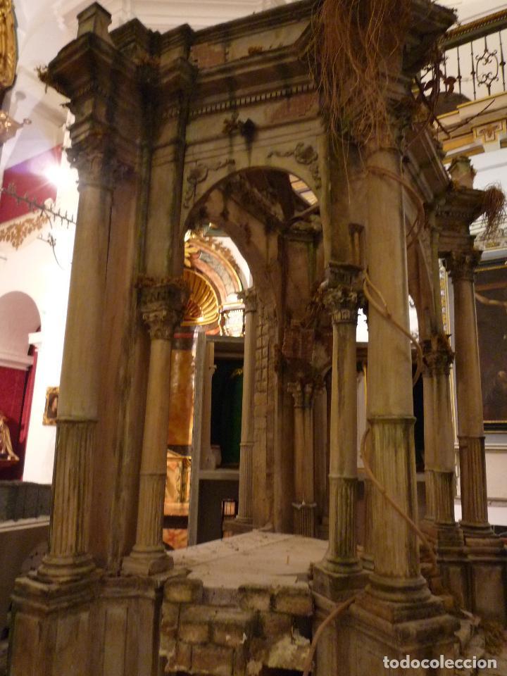 Arte: Nacimiento napolitano, precioso tabernaculo del s. XVIII para belen napolitano,Rebajado de 5000 eur - Foto 7 - 103977115