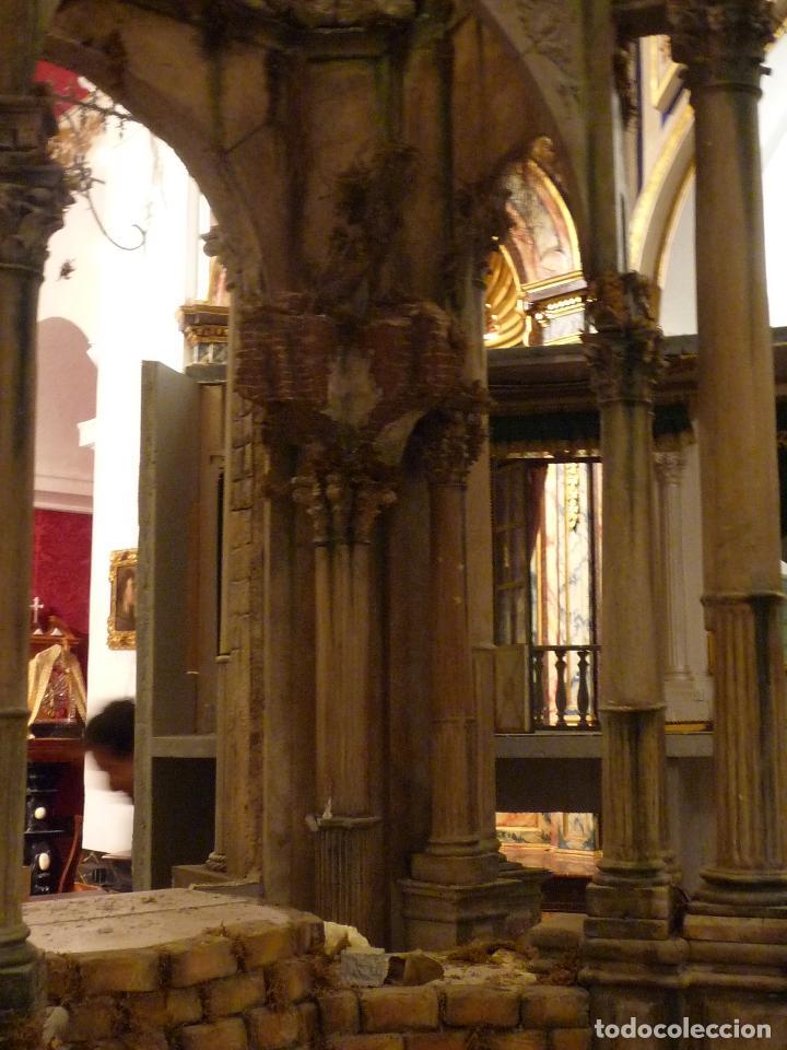 Arte: Nacimiento napolitano, precioso tabernaculo del s. XVIII para belen napolitano,Rebajado de 5000 eur - Foto 13 - 103977115