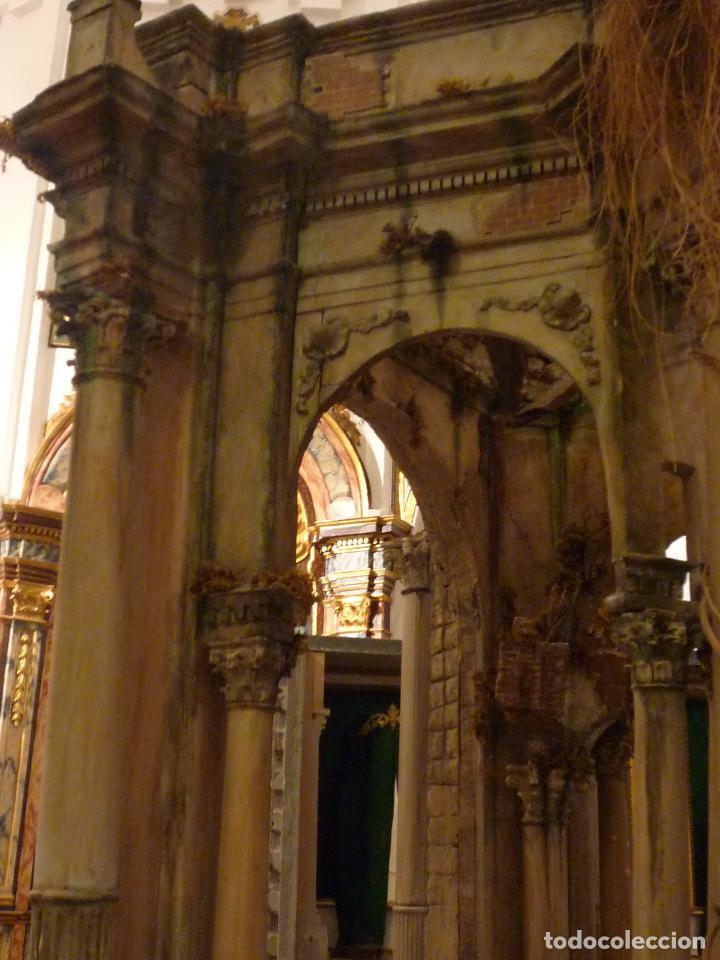 Arte: Nacimiento napolitano, precioso tabernaculo del s. XVIII para belen napolitano,Rebajado de 5000 eur - Foto 21 - 103977115