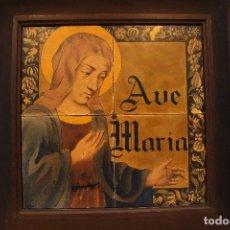 Arte: RETABLO CERÁMICO AVE MARIA FIRMADO A. BLAT 1927. Lote 103996763