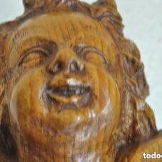 Arte: ANGEL EN TALLA DE MADERA DE PINO BARNIZADO SALIDA 1€. Lote 103998567