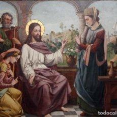 Arte: SENSACIONAL OLEO SOBRE COBRE DEL SIGLO XIX. ESCENA BIBLICA. Lote 104035075